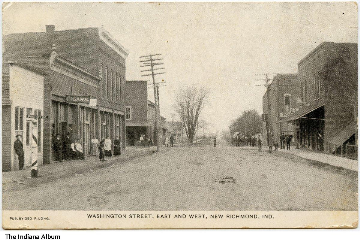 Businesses on Washington Street, New Richmond, Indiana