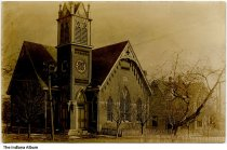 Image of Large church, Indiana, ca. 1913 - Postmarked 1913.