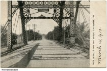 Image of Main Street Bridge and Levee, Lafayette, Indiana, ca. 1910 - Dated March 14, 1910.
