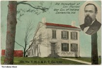Image of Home of Governor Oliver Morton, Centerville, Indiana, ca. 1911 - Postmarked 1911.