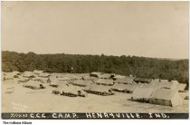 Image of CCC Camp at Francke Lake, Indiana State Forest, Henryville, Indiana, 1933