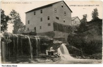 Image of Group at Mill by Upper Falls, Cataract, Indiana, ca. 1911 - Postmarked August 11, 1911.