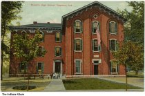 Image of Shield's High School, Seymour, Indiana, ca. 1908 - Postmarked July 13, 1908.