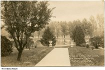 Image of St. Joseph's College lake and lawn, Rensselaer, Indiana, ca. 1910