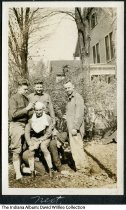 Image of Comic photo of 5 soldiers, Valparaiso, Indiana, ca. 1915