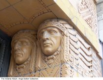 Image of Terra Cotta detail on the Old Trail Building, Indianapolis, Indiana, ca. 2013