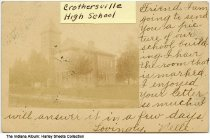 Image of High School, Crothersville, Indiana, ca. 1907 - Postmarked February 14, 1907.