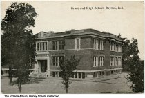 Image of Grade and High School, Dayton, Indiana, ca. 1922 - Postmarked 1922.