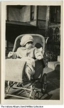 Image of Zwickel daughter in a baby carriage, Connersville, Indiana, ca. 1925 -