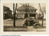 Image of House and car, Connersville, Indiana, ca. 1935