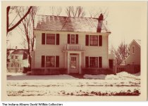 Image of Two story white house in the winter, Connersville, Indiana, ca. 1970