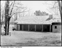 Image of Stables at Clifty Falls State Park, Madison, Indiana, 1939 - Notation on envelope: Clifty Stables