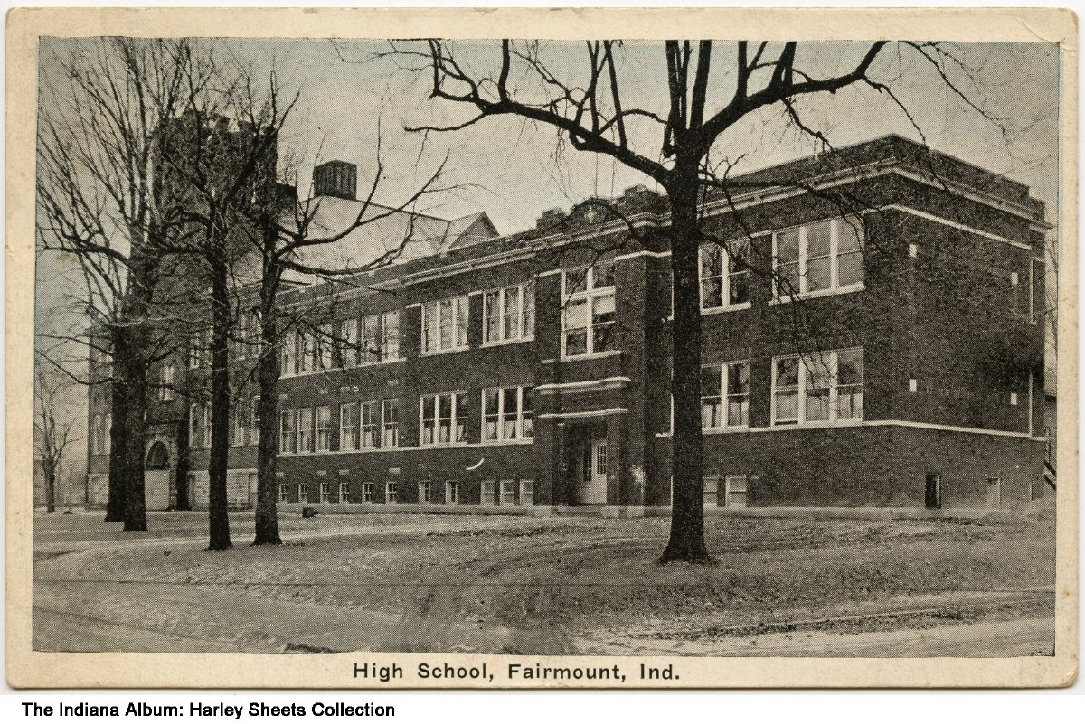 High School, Fairmount, Indiana, circa 1925 - Dated May 7, 1925 on the back.