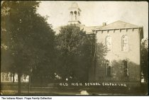Image of Old High School, Colfax, Indiana, ca. 1910 -