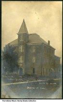 Image of Hymera High School, Hymera, Indiana, ca. 1908 -