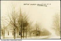 Image of Baptist Church, Wolcott, Indiana, ca. 1911 - Postmarked April 4, 1911.