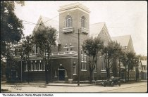 Image of Presbyterian church, Warsaw, Indiana, ca. 1915 - Postmarked October 29, 1915.