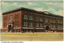 Image of Washington School, Indiana Harbor, Indiana, ca. 1911 - Postmarked July 11, 1911.