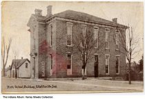 Image of High School, Ellettsville, Indiana, ca. 1909 - Postmarked March 4, 1913.