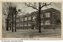 Image of High School, Fairmount, Indiana, ca. 1925 - Dated May 7, 1925 on the back.
