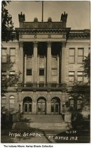 Image of High School, Fort Wayne, Indiana, ca. 1908 - Postmarked July 30, 1908.