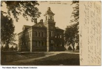 Image of School Building, Goodland, Indiana, ca. 1907 - Dated July 16, 1907.