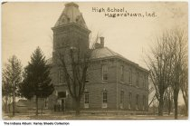 Image of High School, Hagerstown, Indiana, ca. 1913 - Postmarked March 31, 1913.