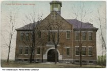 Image of Hanna High School, Hanna, Indiana, ca. 1909 - Postmarked June 27, 1909.