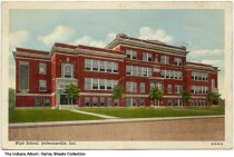 Image of High School, Jeffersonville, Indiana, ca. 1912 - Postmarked October 10, 1948.