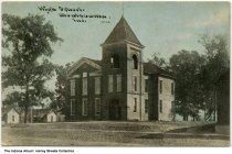 Image of High School, Montezuma, Indiana, ca. 1910 - Postmarked July 7, 1910.