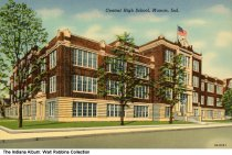 Image of Central High School, Muncie, Indiana, ca. 1935