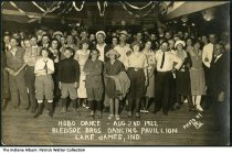 """Image of Dance at Bledsoe Bros. Dancing Pavillion, Lake James, Indiana, August, 1922 - The caption reads """"Hobo Dance - Aug. 2nd 1922. Bledsoe Bros. Dancing Pavillion, Lake James, Ind. Photo by RN."""""""