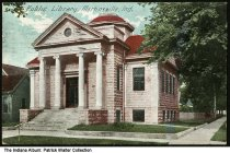 Image of Public library, Martinsville, Indiana, ca. 1911 - Postmarked October 2, 1911.