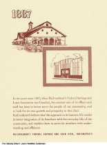 Image of Artwork showing Railroadmen's Federal Savings and Loan, Indianapolis, Indiana, ca. 1970 - This home was included in the Historic Homes of Indianapolis booklet created by Railroadmen's Federal Savings and Loan Association.
