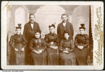 Image of Portrait of seven people by a photographer from Jasper, Indiana, ca. 1880