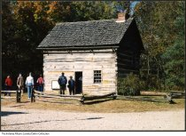 Image of Visitors at the Beeson-DePlanty House in Billie Creek Village, Rockville, Indiana, 1987