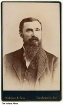Image of Portrait of R. G. Overton, Crawfordsville, Indiana, ca. 1870 - R. G. Overton was once the Superintendent of Montgomery County.