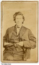 Image of Portrait of David Bentley by a photographer from Maysville, Kentucky, ca. 1880 - This portrait was part of an album of photographs owned by Sallie Justus.