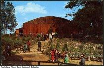 Image of Visitors walking toward performance hall at Buck Lake Ranch, Angola, Indiana, 1953 - Copyright 1953.