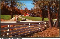 Image of Horses at a stable near Lake James, Angola, Indiana, 1958 - Copyright 1958.