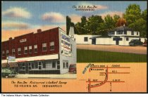 Image of Ban-Dee Restaurant and Cocktail Lounge, Indianapolis, Indiana, ca. 1945 - Also shown is the U. S. S. Ban-Dee restaurant on Ruth Drive on the White River in Ravenswood.