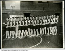 Image of Indiana School for the Deaf basketball team, Indianapolis, Indiana, ca. 1923