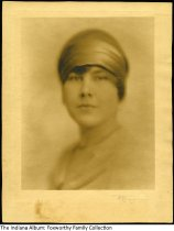 Image of Portrait of Frances Jane Foxworthy, Indianapolis, Indiana, 1927 - Frances J. Foxworthy was born ca. 1911. Dated 1927 on the back.