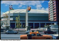 Image of Hoosier Dome, Indianapolis, Indiana, 1988 - Time stamped October 1988.