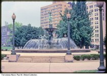 Image of Fountain at University Park, Indianapolis, Indiana, 1979 - Time stamped August 1979.