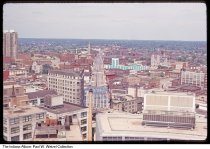 Image of View north east of downtown from the Monument top, Indianapolis, Indiana, 1964 - Time stamped August, 1964.