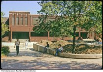 Image of Gymnasium at Arsenal Technical High School, Indianapolis, Indiana, 1976 - Dated 1976.  There is construction going on around the building.