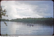 """Image of Goose Lake, Whitley County, Indiana, 1954 - Reads """"Taken at Goose Lake Whitley Co. right after a storm 1954"""" on the mount."""