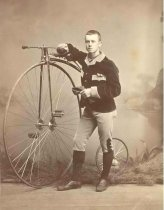 Image of Benjamin Foss Hooper With Bicylce - P1935.5.25