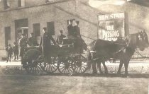 Image of Milwaukee Fire Fighters & Wagon - P1936.2.3